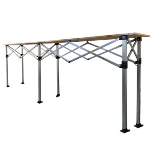 3m concertina table from gazebo uk for Table 3m